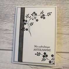 """Gefällt 5 Mal, 1 Kommentare - Majas Stempelzauber (@majawuest) auf Instagram: """"Heute mal eine Karte zu einem traurigen Anlass. Eine Trauerkarte, mit passenden Umschlag und…"""""""