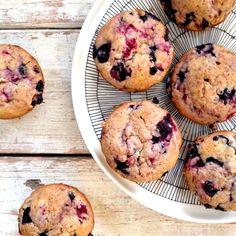 Blueberry raspberry muffins