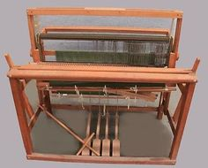 Large Industrial Commercial Wooden Loom Weaving Machine + Accessories 3174 #2236
