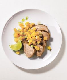 Caribbean Tenderloin With Mango Salsa | Need some quick dinner ideas? Try one of these speedy recipes that take just 15 minutes or less of hands-on work.