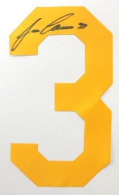 Jose Canseco Signed/Autographed Yellow Baseball Jersey Number SI