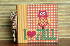 A mini album using digital papers and cutting files by Lori Whitlock (project designed by Christine Ousley).