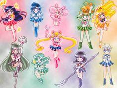 Cute Chibi (Sailor Moon/Mercury/Mars/Jupiter/Vénus/Saturne/Pluton/ Neptune/Uranus and Chibi Moon Sailor Moon Crystal, Sailor Moon Fan Art, Sailor Moon Character, Sailor Moon Manga, Sailor Uranus, Sailor Mars, Sailor Scouts, Sailor Moon Personajes, Sailor Moon Wallpaper