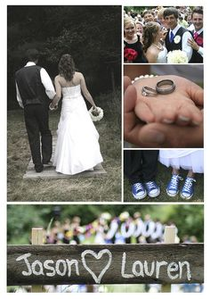 Jessica Yakos Photography.  Collage that sums up the wedding day