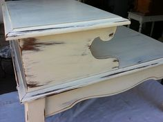 Chalk Paint End Table-- cool for living room