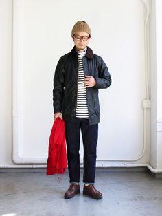 barbour_20161017img_8688 Stylish Men, Men Casual, Japan Fashion, Mens Fashion, Barbour Wax Jacket, Casual Outfits, Fashion Outfits, Fashion Trends, Japan Outfit