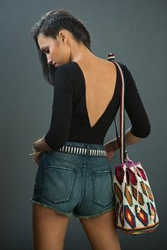 American Vintage Denim Fringe Short - Urban Outfitters