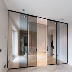 Indoor Sliding Doors, Kitchen Sliding Doors, Sliding Door Panels, Internal Sliding Doors, Indoor Doors, Sliding Glass Door, Glass Doors, Partition Design, Glass Partition