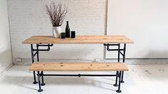 pipe leg table diy - YouTube