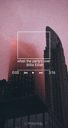 Billie Eilish when the partys over Made a little wallpaper Free to use if anyone wants to billieeilish whenthepartysover wtpo billieeilishedit