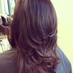 #MarioTricociHawthorn salon by #ChicagoSpa .  LOVE THE LAYERS IN THIS CUT!