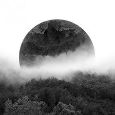 """Nouveaux paysages réfléchis par Victoria Siemer  """"Paysages naturels fracturés à travers le traitement de photos et de collages."""""""