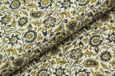 Květinové ornamenty na ecru | MOJELÁTKY.CZ - látky | metráž | galanterie Quilts, Blanket, Quilt Sets, Quilt, Rug, Blankets, Log Cabin Quilts, Cover, Comforters