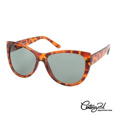 """ERIC DAMAN CENTURY 21 STYLE PICK:  MARILYN CAT-EYE SUNGLASSES  """"A great pair of sunglasses are a girl's bff and an easy, breezy way to make a spring style statement! Trying to have an air of old hollywood allure or just feeling très chic? These oversized cat-eye glasses are the cat's meow! Tortoise is the hot trend for spring accessories AND goes with literally everything, making these retro sunnies a spring and summer must!"""""""