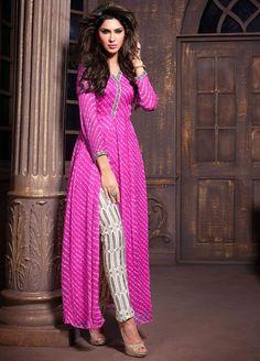 Exquisite Rani Pink Pant Kameez Set