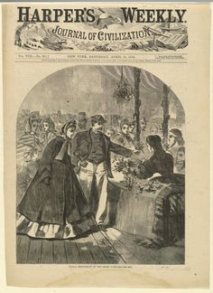 Floral department of the Great (Sanitary) Fair, Harper's Weekly, April 1864; Winslow Homer | In the Swan's Shadow