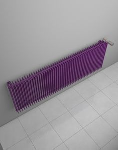 Horizontal radiator with high heat output. Designer radiator under the window. Room design radiator popular by designers. Central heating radiator. 216 colours. Made-to-order radiator. Available with valve set. Delivery: 4 weeks. http://www.hothotexclusive.com/en/eshop/radiators-in-signal-violet-colour-ral-4008/royal-twin-line-hrtl/?proportion_type=1&proportion=875&color=54&heating=1