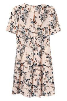 ROMWE | ROMWE Floral Print Pleated Slim Dress, The Latest Street Fashion