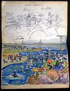 Prendergast sketchbook from Williams College collection.    cool.conservation-us.org