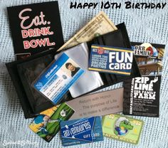 The Big 1-0 | Happy 10th Birthday Gift. Ten experiences for a 10th birthday.