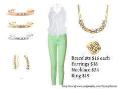 Taco Tuesday!!! This beautiful outfit will make you feel ready for spring, pair it with the multi-gold hues and silver for a polished look! BUY NOW www.justjewelry.com/linziepflumm