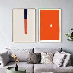 2 Pieces Framed Wall Art Set of 2 Prints Abstract Geometry Art Print Painting on Canvas Large Orange Beige Wall Art Ready to Hang Wall Art Sets, Large Wall Art, Framed Wall Art, Wall Art Prints, Abstract Geometric Art, Abstract Print, Geometry Art, Famous Art, Diy Canvas Art