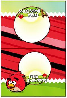 Cartão Agradecimento de Mesa Angry Birds