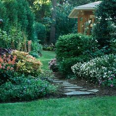 Installing stone walkways throughout your garden or yard invites guests and family alike to stroll through the yard, taking in the beautiful landscape.