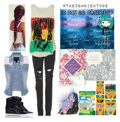 """""""10 day oc challenge"""" by moon-and-back-babe123 ❤ liked on Polyvore featuring Crayola, Topshop, Christopher Kane, Marc by Marc Jacobs and maurices"""