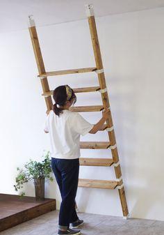 Diy Cardboard Furniture, Large Bookcase, Interior Architecture, Interior Design, Love Home, Diy Tutorial, Bookshelves, Ladder Decor, Diy And Crafts