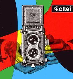 1960 Rollei brochure: Rolleiflex Poster / Advertisement / Ad / Mid Century Design / Vintage Camera / Photography / Retro