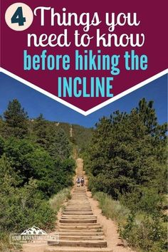 manitou springs Learn everything you need to know about the Manitou Incline: how hard the trail really is, how to get to the trail head and how to prepare to hike the Incline. Estes Park Colorado, Aspen Colorado, Denver Colorado, Visit Colorado, Colorado Hiking, Colorado Mountains, Colorado Winter, Manitou Springs Incline, Manitou Springs Colorado