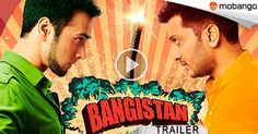 """Watch the Trailer of upcoming #Bollywood comedy satire film """"Bangistaan"""" directed by Karan Anshuman and produced by Farhan Akhtar and Ritesh Sidhwani! Click: http://www.mobango.com/bangistaan-official-trailer/?cid=1989608&catid=9&track=Q148X2424"""