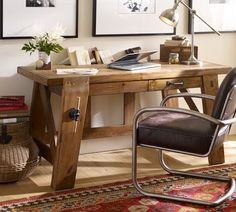 Hendrix Small Smart Technology™ Desk | Pottery Barn.  Bought it for our younger daughter's study today!  Delivery in October.