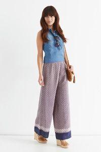 Wide Leg Tile Trouser