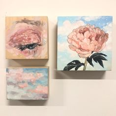 Pink Painting, Painting Wallpaper, Acrylic Painting Canvas, Small Canvas Art, Mini Canvas Art, Aesthetic Painting, Aesthetic Art, Amazing Drawings, Amazing Art