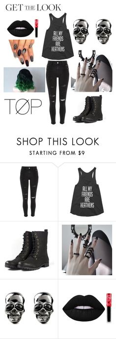 """""""Rocker Chick"""" by helloitsme-167 ❤ liked on Polyvore featuring River Island, Lime Crime, rockerchic and rockerstyle"""