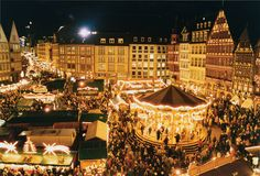 Weihnachtsmarkt - Christmas market in Frankfurt, Germany