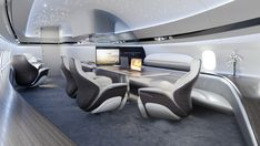 This Boeing 737 Max private jet interior design looks more like a futuristic spaceship than it does a private jet Jets Privés De Luxe, Luxury Jets, Luxury Private Jets, Private Plane, Interior Concept, Interior Design, Private Jet Interior, Camas King, Aircraft Interiors