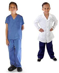 Super Soft Children Scrub Set and Lab Coat Combo Kids Doctor Dress up Ceil Blue Set and White Lab Coat) Kids Doctor Kit, Doctor Role Play, Diy Doctor, Sew Baby, Baby Sewing, Kids Scrubs, Scrubs Pattern, Doctor Scrubs, White Lab Coat
