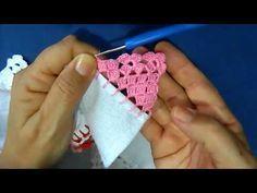 Bico em croche - 84 - PARA CANHOTO(A) - YouTube Irish Crochet Patterns, Crochet Borders, Crochet Motif, Diy Crochet, Crochet Designs, Crochet Doilies, Crochet Leaves, Crochet Flowers, Square Patterns