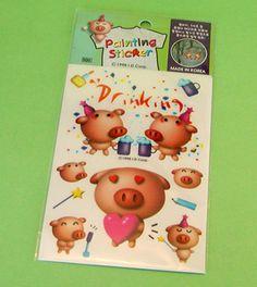Piggy Painting Sticker Made in Korea (HK$6)