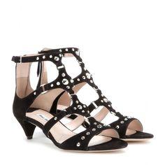mytheresa.com - Embellished suede sandals - Sandals - Shoes - Luxury Fashion for Women / Designer clothing, shoes, bags