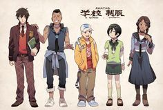 Zuko, Sokka, Aang, Toph, and Katara - Avatar Avatar Aang, Avatar Airbender, Team Avatar, Zuko, Fan Art Anime, The Last Avatar, Avatar Series, Iroh, Korrasami