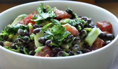 healthy Avocado & Black Bean Salad... before going to the Oprah show ...