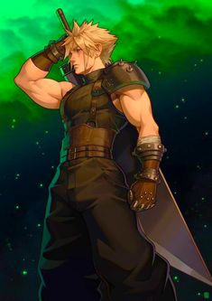 See more 'Final Fantasy VII' images on Know Your Meme! Final Fantasy Cloud, Final Fantasy Artwork, Final Fantasy Characters, Final Fantasy Vii Remake, Fantasy Series, Dark Fantasy, Female Characters, Medieval Fantasy, Final Fantasy Collection