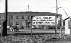 old pictures of oakland ca | Oakland Port of Embarkation, ca. 1943.