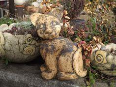 Keramik+Katze+Unikat+Figur+Geschenk+Ton+Kunst+Tier+von+Elfenflüstern+®+auf+DaWanda.com