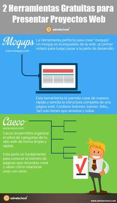 Hola: Una infografía con 2 herramientas gratuitas para presentar proyectos web. Vía Un saludo