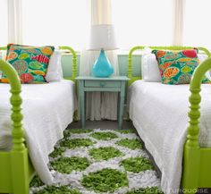 colorful twin bedroom | Jane Coslick